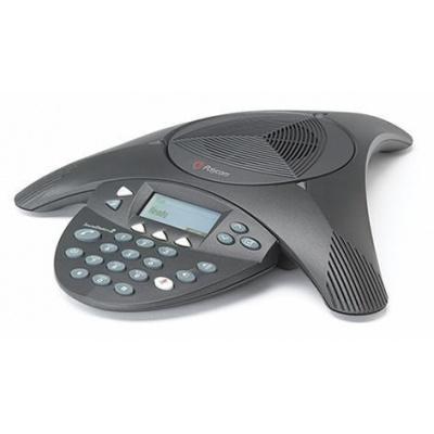 Polycom konferenční telefon SoundStation 2, LCD displej, porty pro rozšíření o externí mikrofony, PC kabel