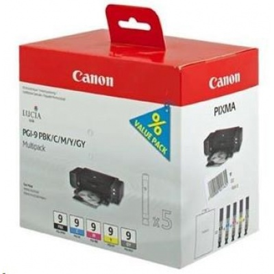 Canon BJ CARTRIDGE PGI-9 PBK/C/M/Y/GY Multi Pack