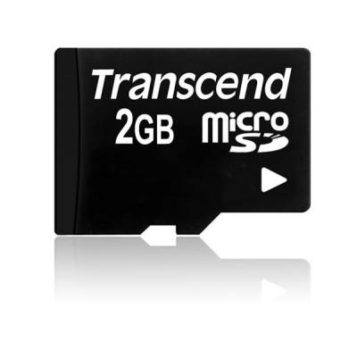 TRANSCEND MicroSD karta 2GB, bez adaptéru