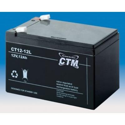 Baterie - CTM CT 12-12L (12V/12Ah - Faston 250), životnost 5let