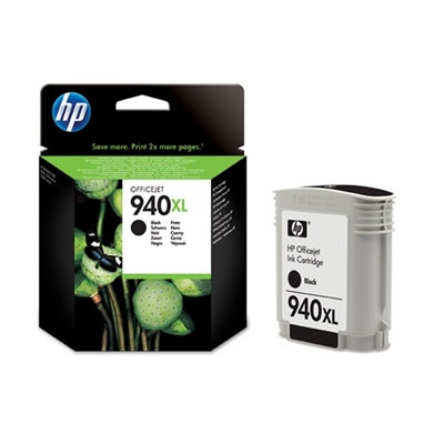 HP 940XL Black Ink Cart, 49 ml, C4906AE