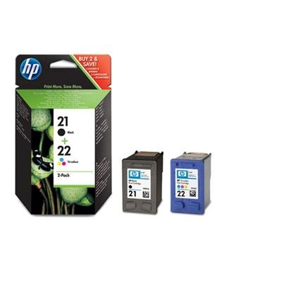 HP 21/22 Combo-B/CMY Ink Cart, 5ml, SD367EE