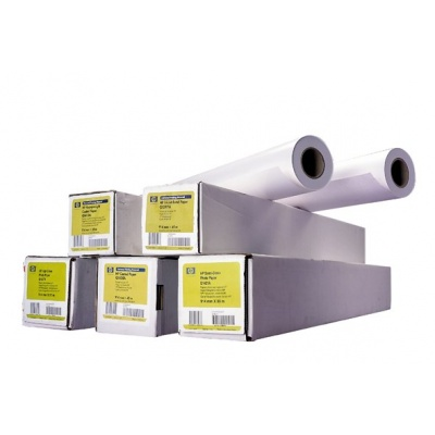 HP Universal Heavyweight Coated Paper-610 mm x 30.5 m (24 in x 100 ft),  33 lb,  131 g/m2, Q1412B