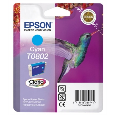 "EPSON ink bar CLARIA Stylus photo ""Kolibřík"" R265/ RX560/ R360 - cyan"