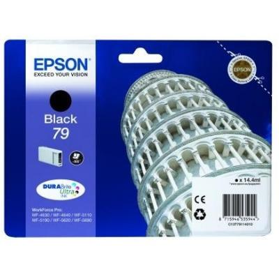 "EPSON Ink čer WF-5xxx Series Ink Cartridge ""Pisa"" 79 Black (14,4 ml)"