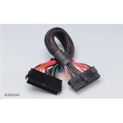 AKASA kabel  prodloužení k 24pin ATX PSU, 30cm