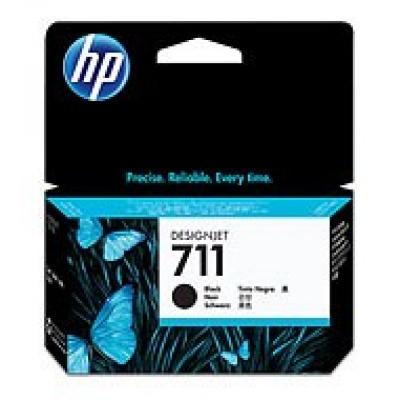 HP 711 Black DJ Ink Cart, 38 ml, CZ129A