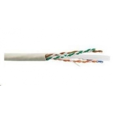 UTP kabel LYNX, Cat6, drát, LS0H, šedý, 305m
