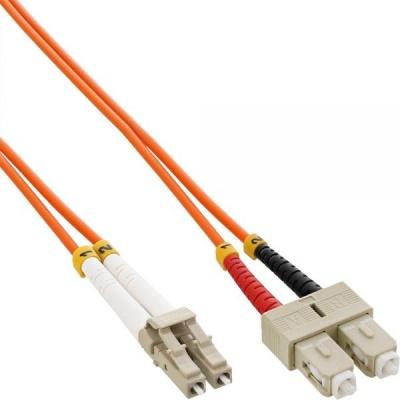 Duplexní patch kabel MM 62,5/125 OM1, LC-SC, LS0H, 2m