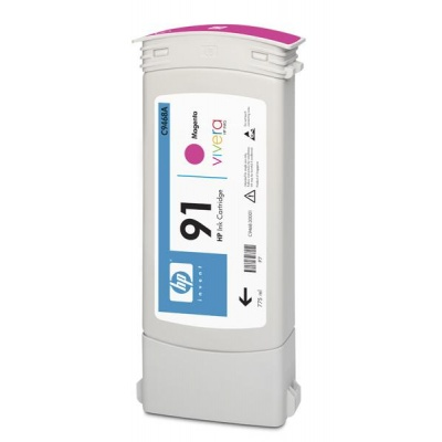 HP 91 Magenta DJ Ink Cart, 775 ml, C9468A
