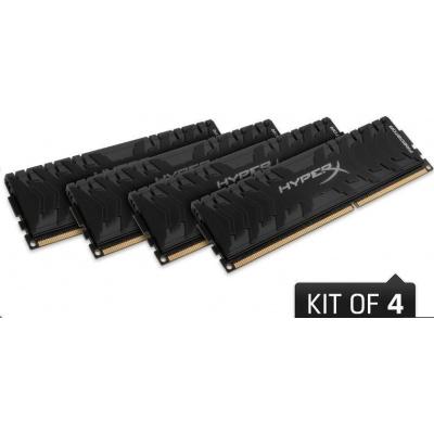 DIMM DDR4 32GB 3000MHz CL15 (Kit of 4) XMP KINGSTON HyperX Predator