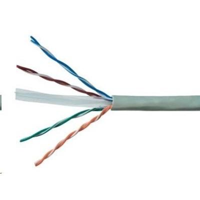 UTP kabel PlanetElite, Cat6, drát, PVC, Dca, šedý, 305m