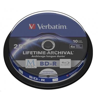 VERBATIM MDisc BD-R(10-pack)Spindle/4x/25GB