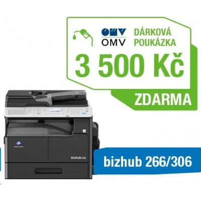 Minolta kopírka bizhub 266 (A3, 26ppm, Duplex, LAN/USB, GDI) + Poukázka OMV 3500