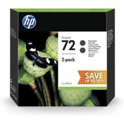HP 72 2-pack 130-ml Matte Black DesignJet Ink Cartridges