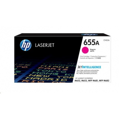 HP 655A Magenta Original LaserJet Toner Cartridge (CF453A)