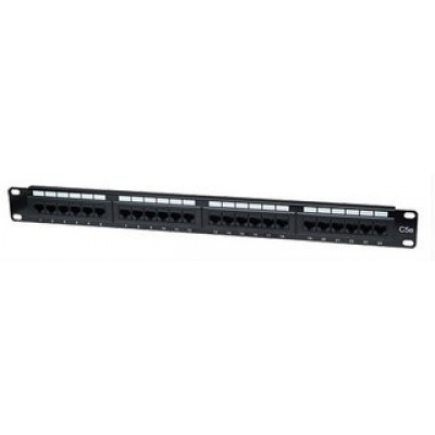 Intellinet Patch panel 24 port Cat5e, UTP, černý
