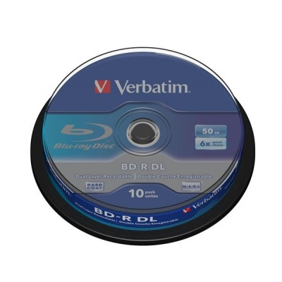 VERBATIM BD-R(10-pack)/DualLayer/spindle/6X/50GB