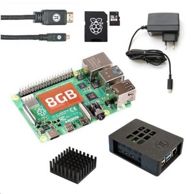 Raspberry Sada Zonepi Pi 4B/8GB, (SDHC karta 32GB + adaptér, Pi4 Model B, krabička, chladič, HDMI kabel, napájecí zdroj)