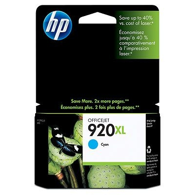 HP 920XL Cyan Ink Cart, 6 ml, CD972AE