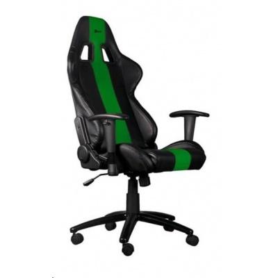 C-TECH Phobos herní křeslo, černo-zelené