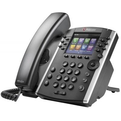 Polycom IP telefon VVX 411, 12 linkový, 2x 1 Gb, HD Voice, PoE, bez napájecího zdroje