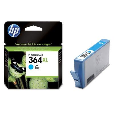 HP 364XL Cyan Ink Cart, 6 ml, CB323EE
