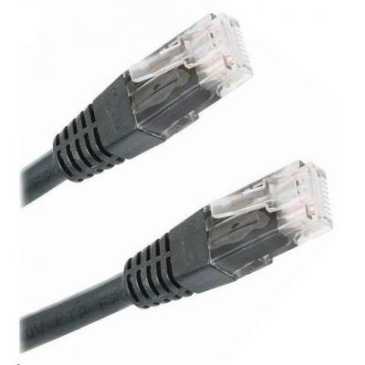 Patch kabel Cat6, UTP - 1m, černý
