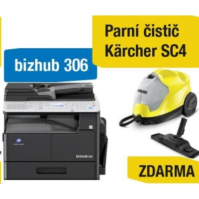 Minolta kopírka bizhub 306 (A3, 30ppm, Duplex, LAN/USB, GDI) + Kärcher čistič SC4