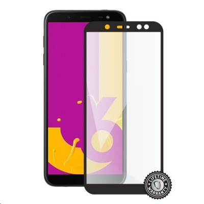Screenshield ochrana displeje Tempered Glass pro SAMSUNG J600 Galaxy J6 (2018) (full cover), černá