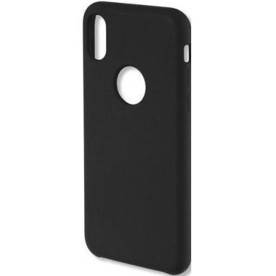4smarts silikonový kryt CUPERTINO pro iPhone X / XS , černá