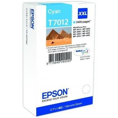 EPSON Ink bar WorkForce-4000/4500 - Cyan XXL - 3400str. (34,2 ml)
