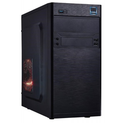 EUROCASE skříň MC X202 EVO black, micro tower, 2xAU, 2x USB 2.0, 1x USB 3.0
