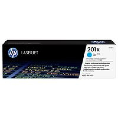 HP 201X High Capacity Cyan LJ Toner Cartridge, CF401X