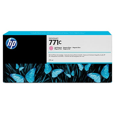 HP 771C Light Magenta DJ Ink Cart, 775 ml, B6Y11A