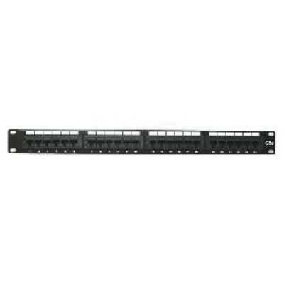"""19"""" Patch panel XtendLan 24port, UTP, Cat5E, duální svorkovnice, černý"""