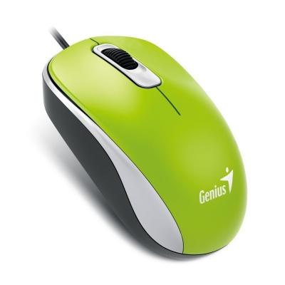 GENIUS myš DX-110, drátová, 1000 dpi, USB, zelená