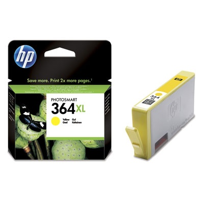 HP 364XL, Yellow Ink Cart, 6 ml, CB325EE