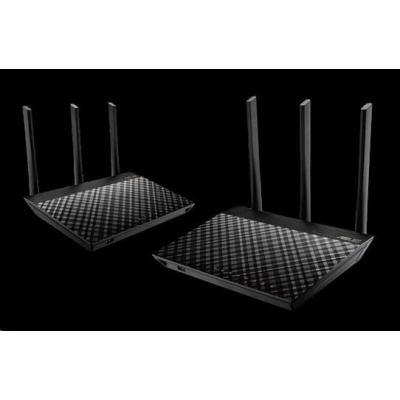 ASUS RT-AC67U (2-pack) Gigabit Dualband Wireless AC1900 Router, AiMesh Wi-Fi System