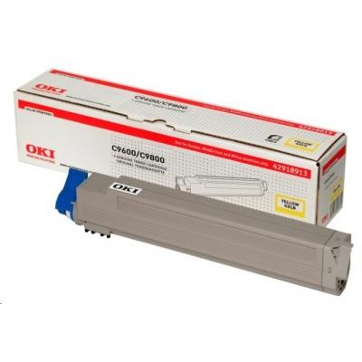 Oki Toner Žlutý do C9600/C9650/C9800/C9850/C9800MFP/C9850MFP (15k)