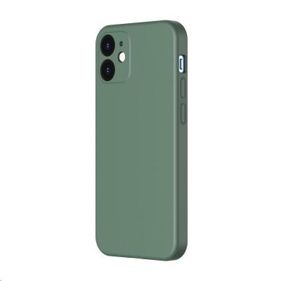 Baseus Liquid Silica Gel Protective Case for Apple iPhone 12 6.1'' Dark Green