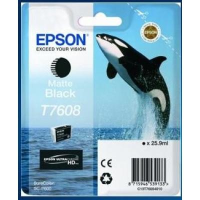 EPSON ink čer ULTRACHROME HD - Matte Black - T7608 (25,9 ml)
