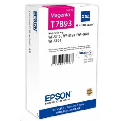 "EPSON Ink bar WF-5xxx Series Ink Cartridge ""Pisa"" XXL Magenta (34,2 ml)"