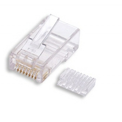 Konektor UTP RJ45 (8p8c), Cat6, 50µm, skládaný, drát - 100 ks