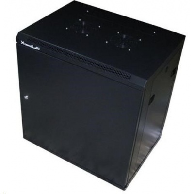 """XtendLan 19"""" jednodílný nástěnný rozvaděč 9U, šířka 600mm, hloubka 450mm, plné dveře,úprava proti vykradení,nosnost 60kg"""