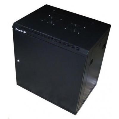 """XtendLan 19"""" jednodílný nástěnný rozvaděč 15U, šířka 600mm,hloubka 440mm, plné dveře,úprava proti vykradení,nosnost 60kg"""