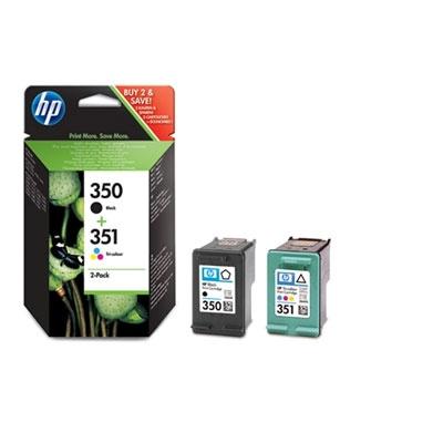 HP 350/351 Combo-B/CMY Ink Cart, 4,5/3,5 ml, SD412EE