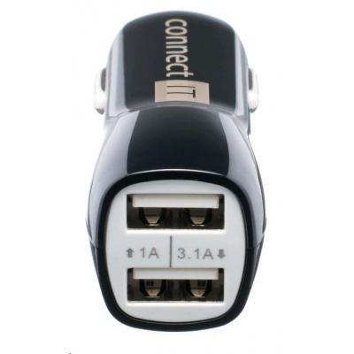 CONNECT IT USB PREMIUM nabíječka univerzální do auta (2x USB 3,1A a 1A., autoadaptér CL)