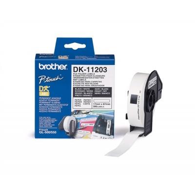 BROTHER DK-11203 Databázové štítky 17x87mm (300 ks)
