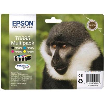 "EPSON ink čer+bar Stylus ""Opice"" S20/SX100/SX200/SX400 (T0895) multipack"